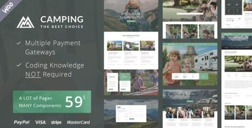 ThemeForest - Camping Village v2.8 - Campground Caravan Hiking Tent Accommodation - 14950641