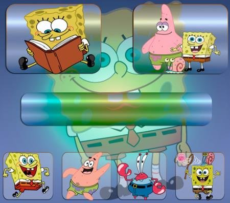 Картинки на прозрачном фоне - Мультфильм губка Боб