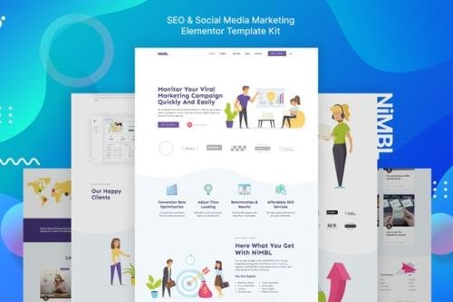 ThemeForest - Nimbl - SEO & Social Media Marketing Template Kit - 29452767