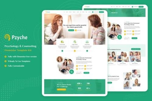 ThemeForest - Pzyche v1.0 - Psychology & Counseling Elementor Template Kit - 29449972