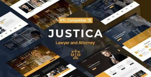 ThemeForest - Justica v1.0 - Lawyer and Attorney Website Template - 29485331