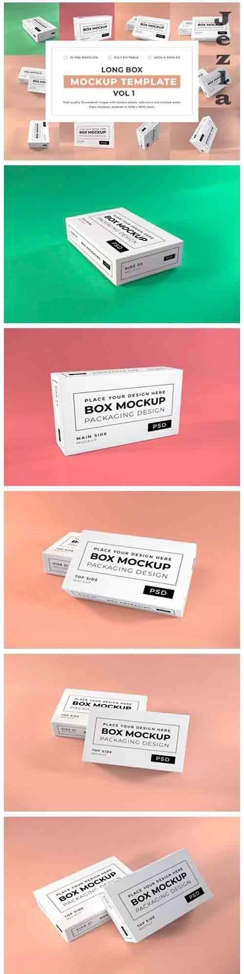 Long Box Packaging Mockup Template Bundle Vol 1 - 1053084