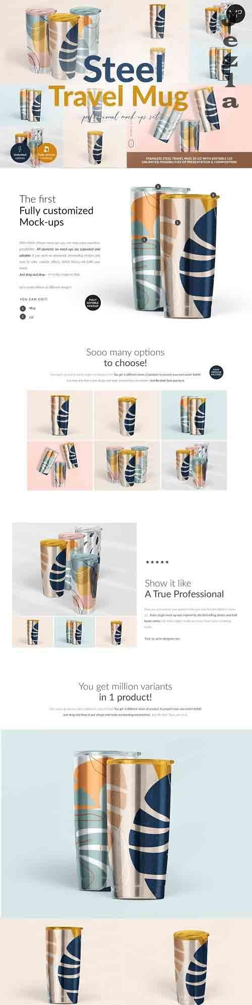 CreativeMarket - Travel Mug Professional Mock-ups Set 5502633