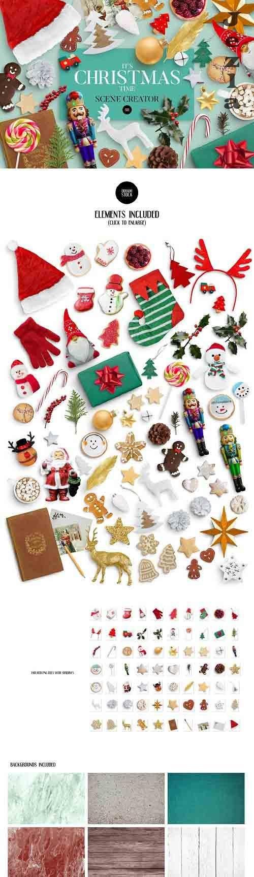 CreativeMarket - Christmas Scene Creator 5498557