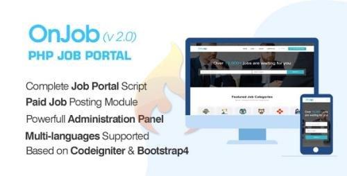 CodeCanyon - OnJob v2.2 - PHP Job Portal Application - 23119146