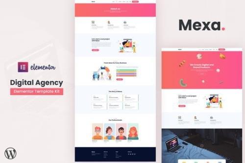 ThemeForest - Mexa v1.0.0 - Digital Agency Elementor Template Kit - 29299425