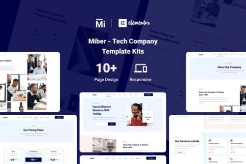 ThemeForest - Miber v1.0.0 - Tech Company Elementor Template Kit - 29350164