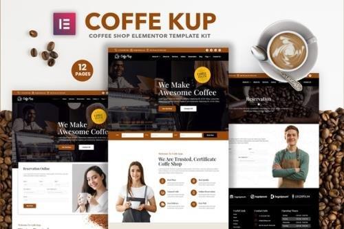 ThemeForest - CoffeeKup v1.0.0 - Cafe & Coffee Shop Elementor Template Kit - 29126139