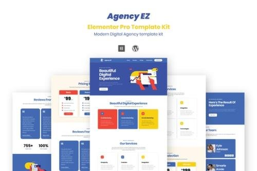 ThemeForest - AgencyEz v1.0.0 - Elementor Pro Template Kit - 29283545