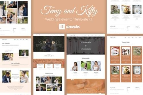 ThemeForest - Temy and Kifty v1.0.0 - Wedding Template Kit - 29345249