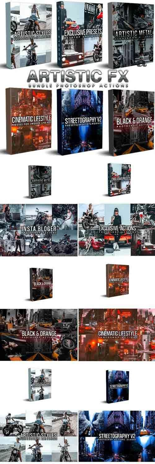 GraphicRiver - Artistic Bundle (6 in 1) Photoshop Actions 29425595