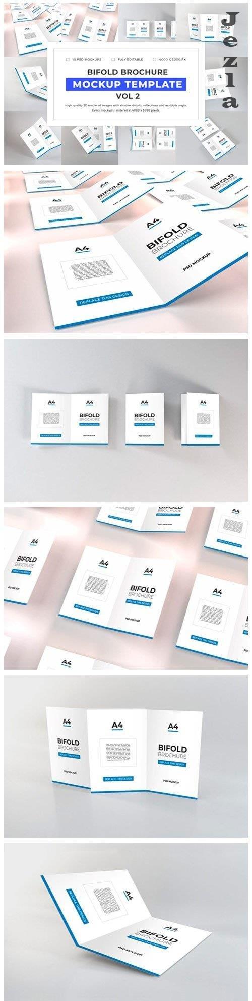 Bifold Brochure Mockup Template Bundle Vol 2 - 1058199