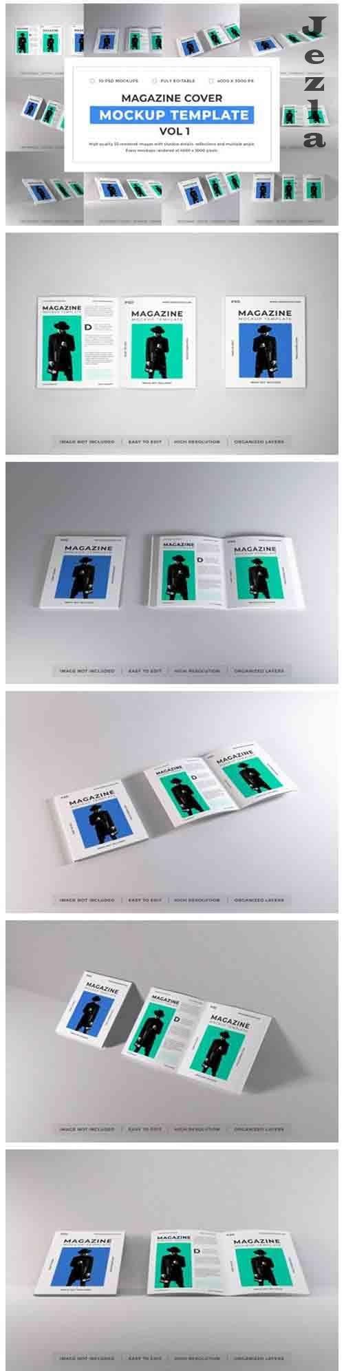 Magazine Cover Mockup Template Bundle Vol 1 - 1053889