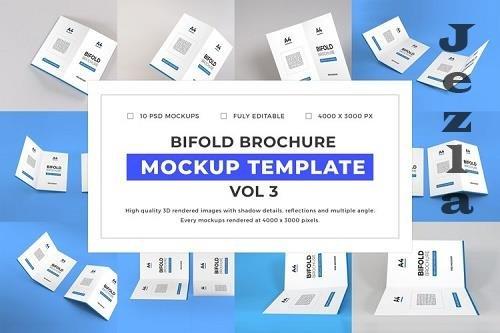 Bifold Brochure Mockup Template Bundle Vol 3 - 1058224