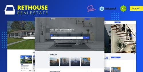 ThemeForest - Rethouse v1.0 - Real Estate HTML Template - 27090800
