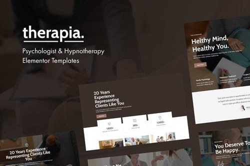 ThemeForest - Therapia v1.0 - Psychologist & Hypnotherapy Elementor Templates (Update: 13 May 20) - 26408801
