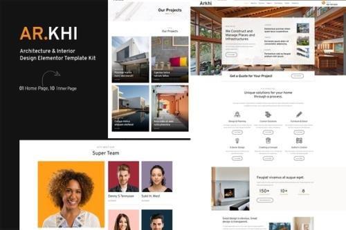 ThemeForest - Arkhi v1.0.0 - Architecture & Interior Design Elementor Template Kit - 29452841
