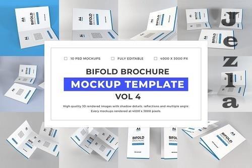 Bifold Brochure Mockup Template Bundle Vol 4 - 1058237
