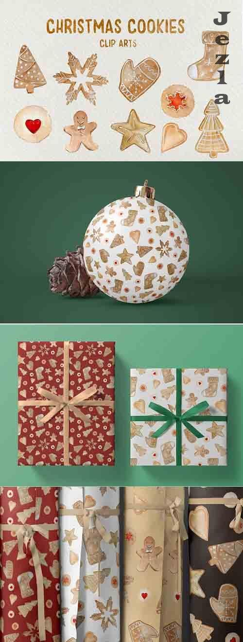 Christmas Cookies Clip Arts/Pattern - 5649374