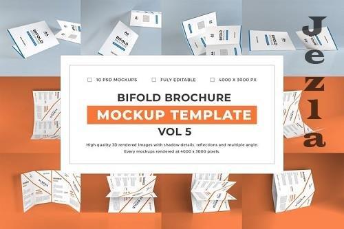 Bifold Brochure Mockup Template Bundle Vol 5 - 1058250