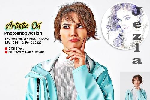 CreativeMarket - Artistic Oil Photoshop Action 5616592