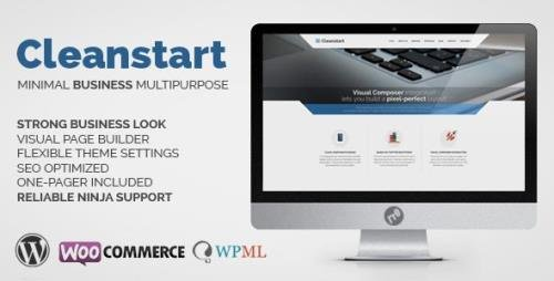 ThemeForest - Corporate Business WordPress Theme - Cleanstart v1.6.6 - 8981419