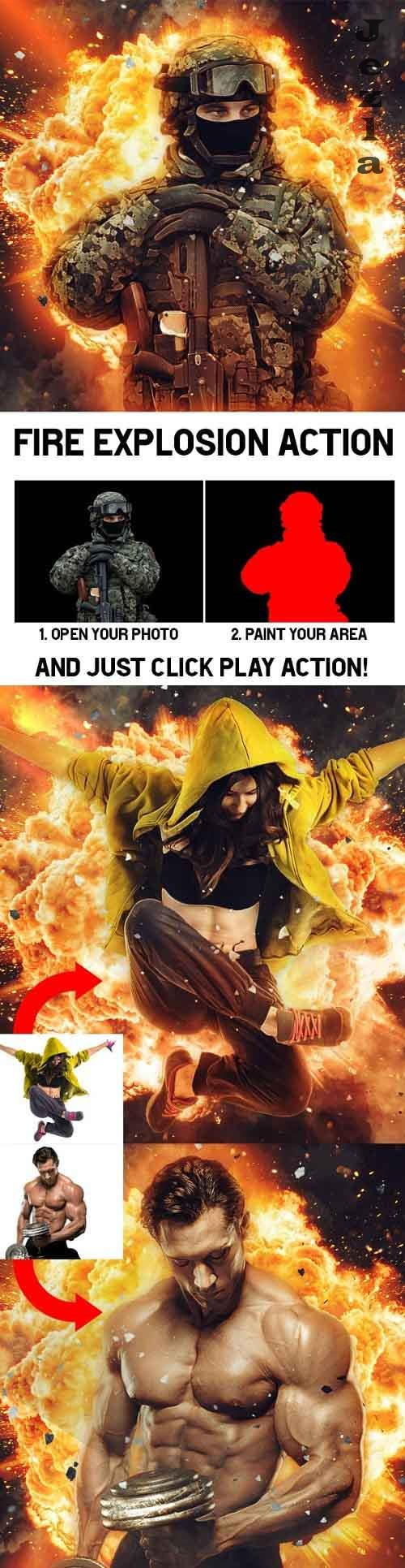 GraphicRiver - Fire Explosion Action 29093764