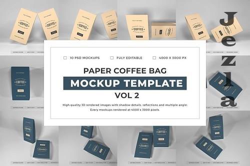 Paper Coffee Bag Mockup Template Bundle Vol 2 - 1076796