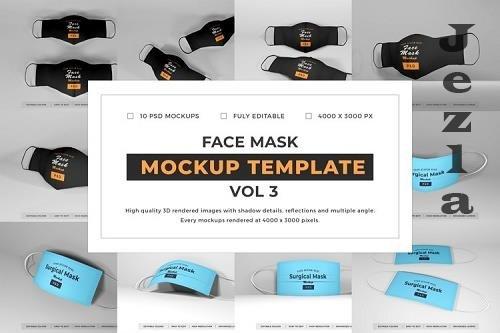 Face Mask Mockup Template Bundle Vol 3 - 1078120
