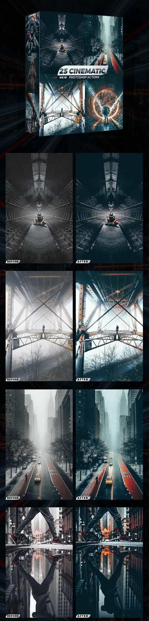 GraphicRiver - 25 Cinematic Photoshop Actions 28884599