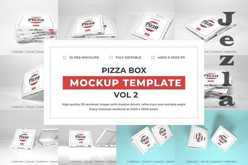 Pizza Box Packaging Mockup Template Bundle Vol 2 - 1080595