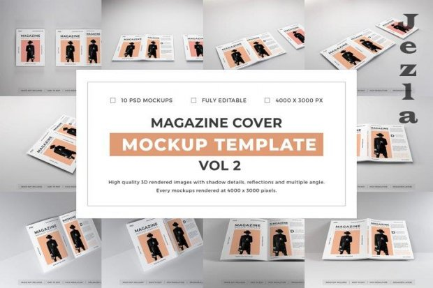Magazine Cover Mockup Template Bundle Vol 2 - 1080582