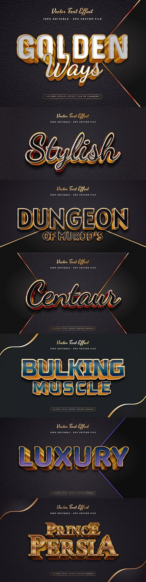 Elegant text in gold style with texture effect