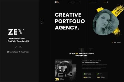 ThemeForest - Zev v1.0.0 - Creative Personal Portfolio Template Kit - 29504122