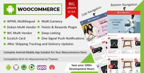 CodeCanyon - Android Woocommerce v1.9.4 - Universal Native Android Ecommerce / Store Full Mobile Application - 21952065 -