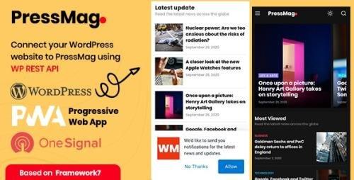 ThemeForest - PressMag v1.0 - News & Magazine PWA Mobile Template - 28814171