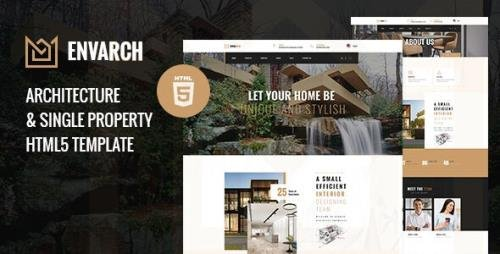ThemeForest - EnvArch v1.0 - Architecture and Single Property HTML5 Template - 29574263