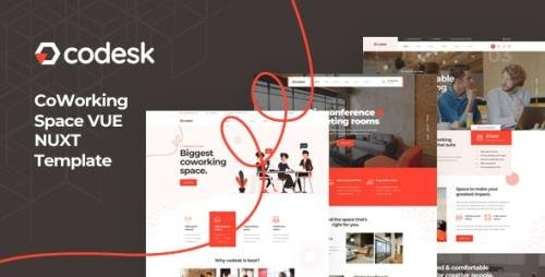 ThemeForest - Codesk v1.0 - Vue Nuxt Coworking Space Template - 29457013