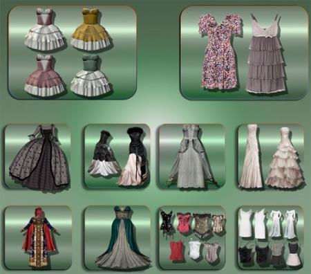 Png прозрачный фон - Праздничные платья