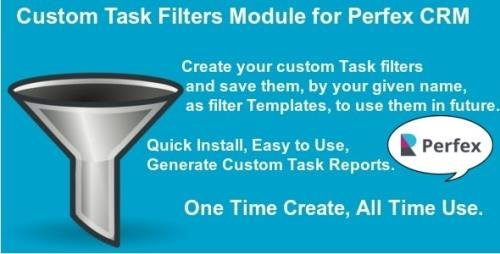 CodeCanyon - Custom Task Filters Module for Perfex CRM v1.0.1 - 27912036