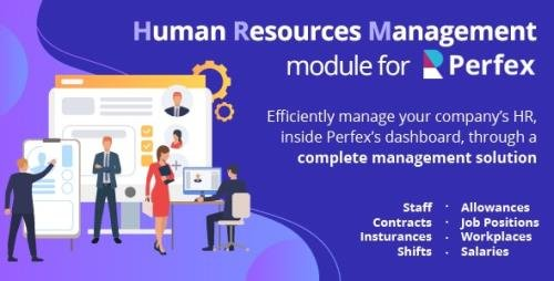 CodeCanyon - Human Resources Management v1.0 - HR module for Perfex CRM - 26620578