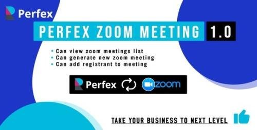 CodeCanyon - Perfex Zoom Meeting Module v1.0 - 27664874