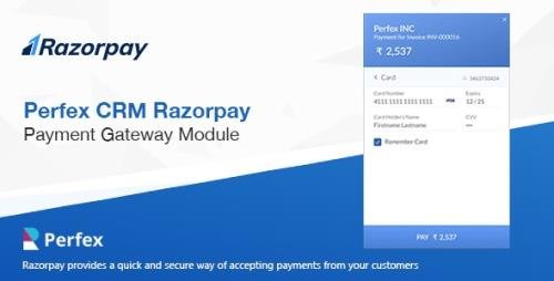 CodeCanyon - Razorpay Payment Gateway for Perfex CRM v1.0 - 24003506