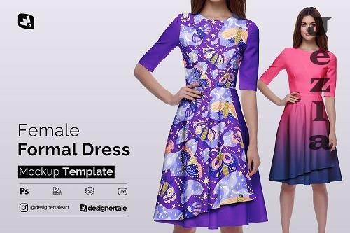 CreativeMarket - Female Formal Dress Mockup 5142741