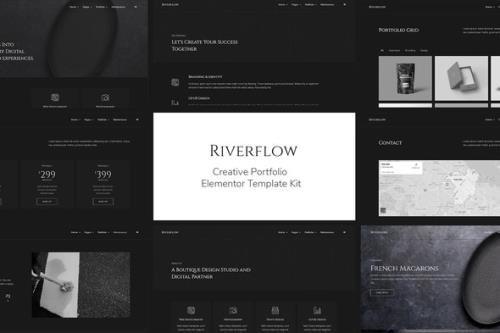 ThemeForest - Riverflow v1.0.0 - Creative Portfolio Elementor Template Kit - 29530118