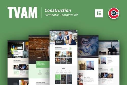 ThemeForest - Tvam v1.0.0 - Construction Elementor Template Kit - 29572940