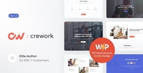 ThemeForest - Crework v1.1.6 - Coworking and Creative Space WordPress Theme - 20318106