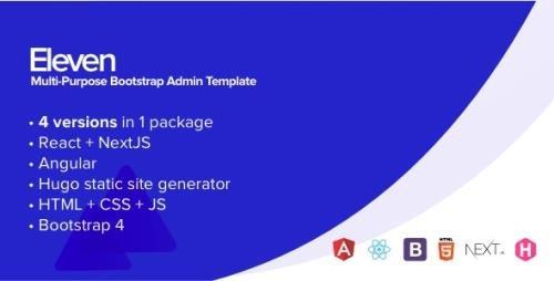 ThemeForest - Eleven v1.0 - Multi-Purpose Bootstrap Admin Template - 25559388