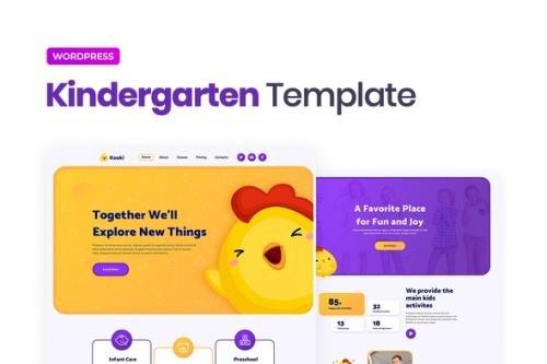 ThemeForest - Kooki v1.0.0 - Kindergarten Elementor Template Kit - 29522202