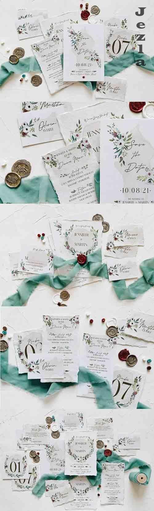 White & Green Foliage Wedding Suite - 5658283